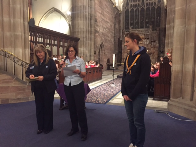 Brownies and Guides from across the district gathered  for their annual Carol service at St Margarets